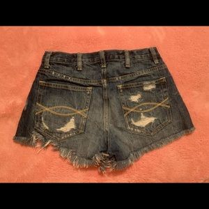 Abercrombie ripped jean shorts